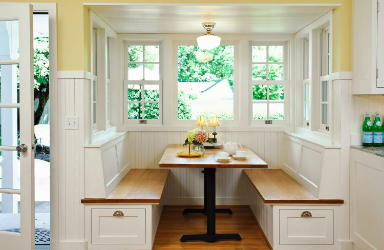 cheery breakfast nook designed by Deb Kadas