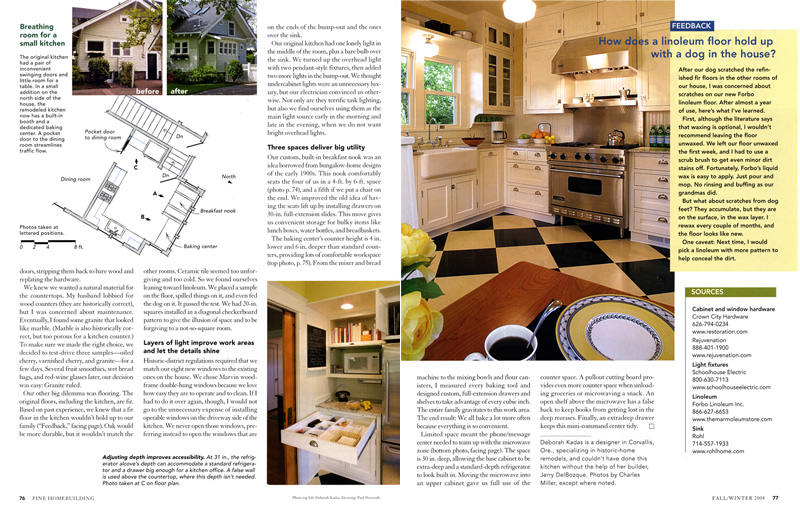 Fine Homebuilding Kitchens & Baths article