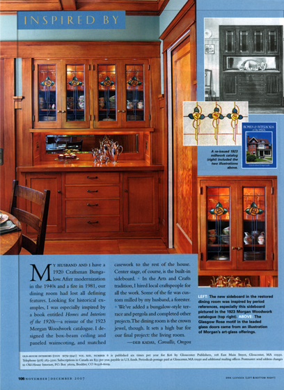 Old-House Interiors - Craftsman sideboard