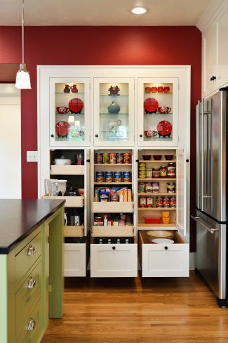 spacious pantry cabinets